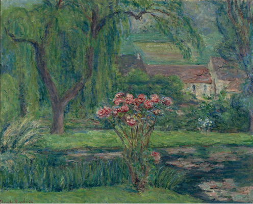 Blanche Hoschede-Monet - Giverny, Roses and Waterlilies.jpg