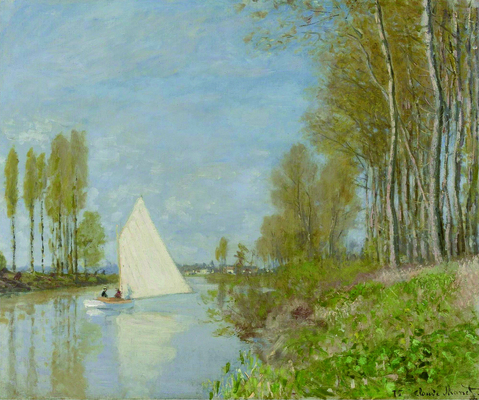 Claude Monet - Small Boat on the Small Branch of the Seine at Argenteuil, 1872.jpg