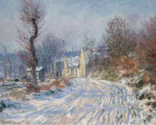 Claude Monet - The Road at Giverny in Winter, 1885.jpg