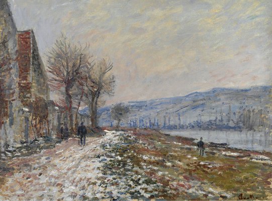 Claude Monet - The Riverbank at Lavacourt, Snow, 1879.jpg