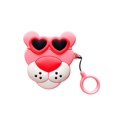 cases for airpods 2 case cartoon pink leopard for apple air pods