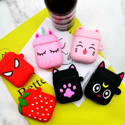 funny cartoon for apple airpods case 3d protective cover cute