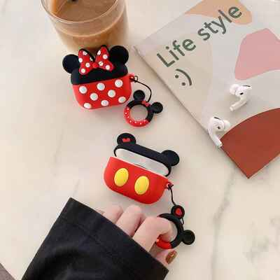 pro 3d cute cartoon mickey minnie earpods case for apple airpods