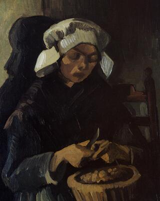 Peasant Woman Peeling Potatoes, 1885