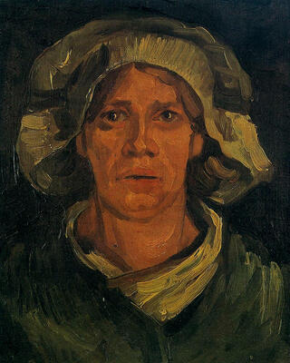 Head of a Peasant Woman With white Cap, 1885
