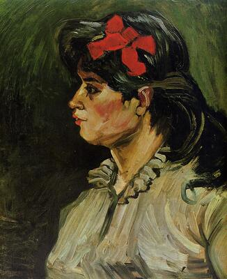 Portrait of a Woman with a Red Ribbon, 1885