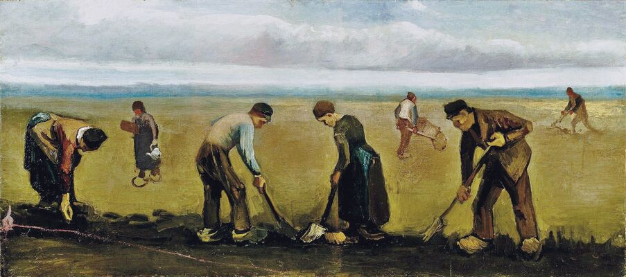 Farmers Planting Potatoes, 1884