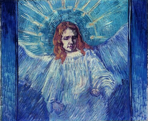 Half-Figure of an Angel (after Rembrandt), 1889