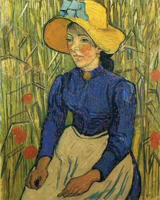 Peasant Girl with Yellow Straw Hat, 1890