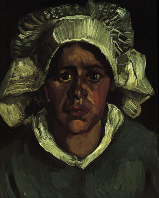 Head of a Peasant Woman in a White Bonnet, 1885