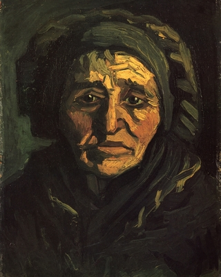 Head of a Peasant Woman with a Greenish Lace Cap, 1885