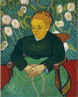 La Berceuse, Portrait of Madame Roulin, 1889 03