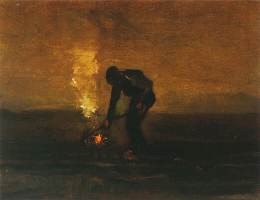 Peasant Burning Weeds, 1883