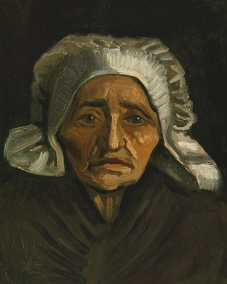 Head of a Peasant Woman in a White Bonnet, 1884