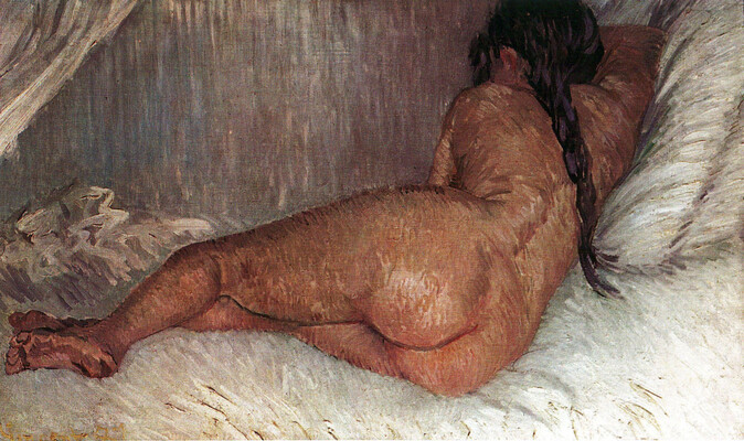 Nude Woman Reclining, Seen from the Back, 1887