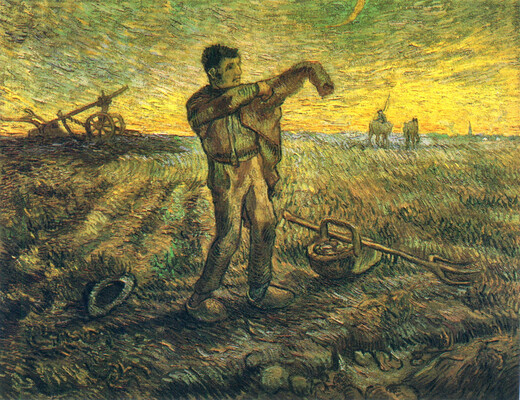 Evening - The End of the Day (after Millet), 1889