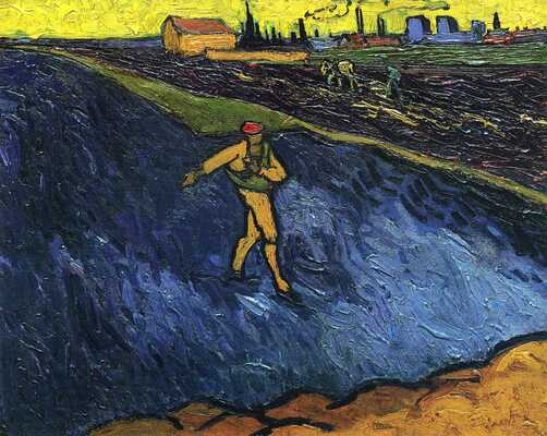 Sower - Outskirts of Arles in the Background, 1888