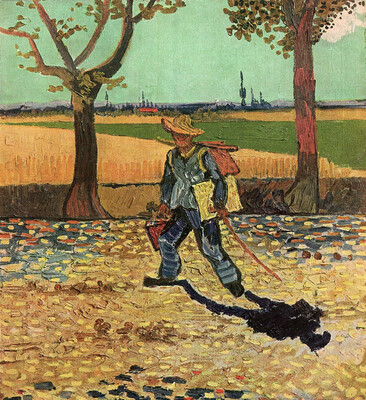 Self Portrait on the Road to Tarascon (The Painter on His Way to Work), 1888