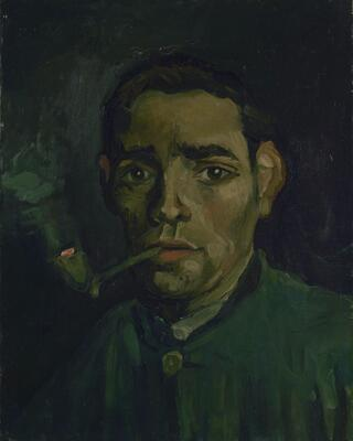 Head of a Man with Pipe, 1884-85