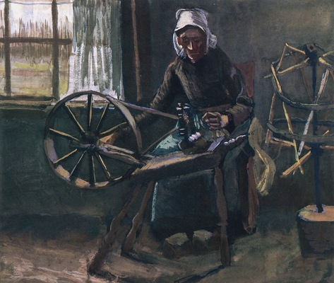 Woman at the Spinning Wheel, 1884