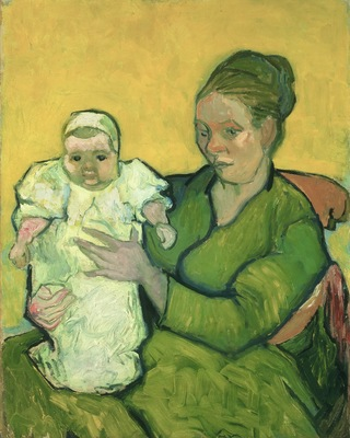 Portrait of Madame Augostine Roulin and Baby, 1888