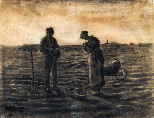 The Evening Prayer (after Millet), 1881