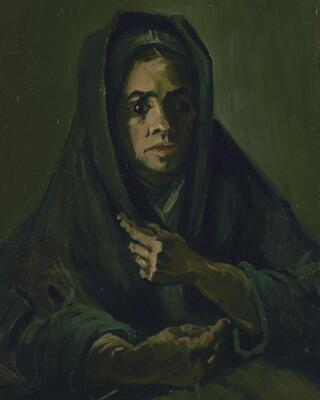Peasant Woman with Dark Hood, 1885