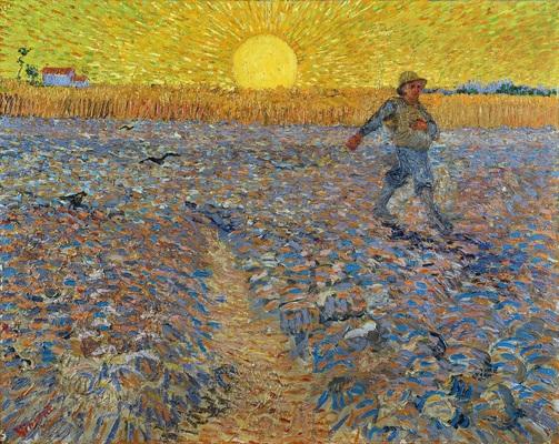 Sower with Setting Sun (after Millet), 1888