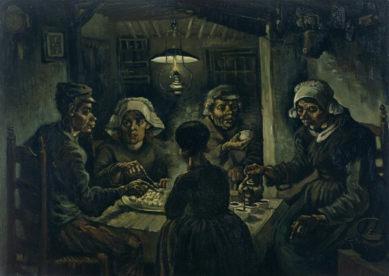 The Potato Eaters, 1885 01