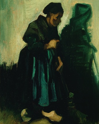 Woman with a Broom, 1885