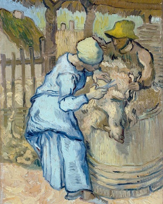 The Shearer (after Millet), 1889