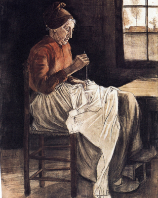 Woman Sewing, 1881 01