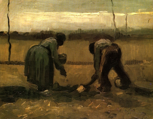 Peasant Man and Woman Planting Potatoes, 1885