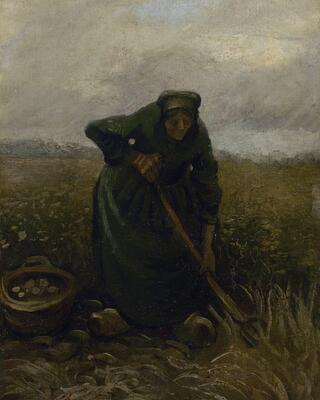 Peasant Woman Lifting Potatoes, 1885 01 Woman Lifting Potatoes, 1885