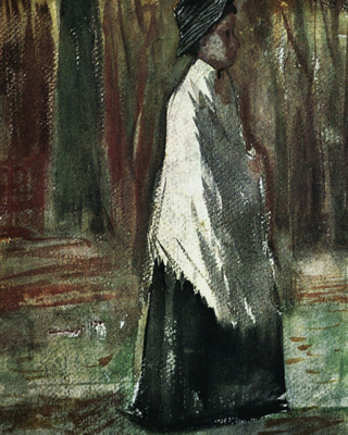 Woman with White Shawl in a Wood, 1882