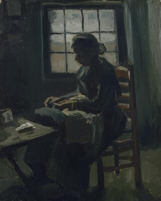 Woman Sewing, 1885 01