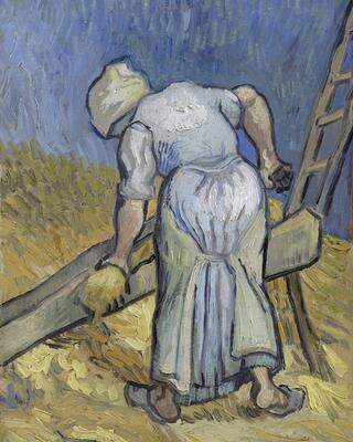 Peasant Woman Cutting Straw (after Millet), 1889