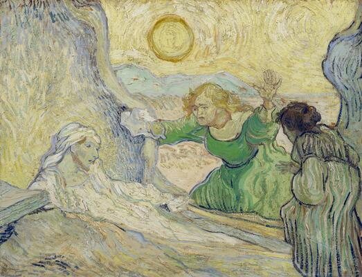 Raising of Lazarus (after Rembrandt), 1889