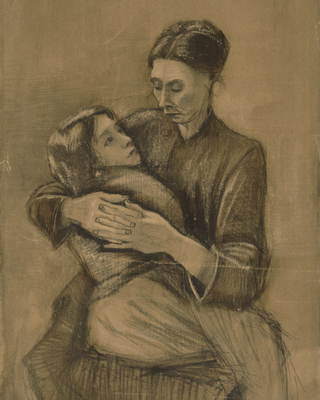 Woman with a Child on Her Lap, 1883